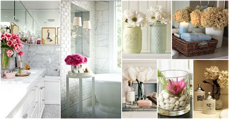 decor ideas for bathroom relaxing flowers bathroom decor ideas that will refresh
