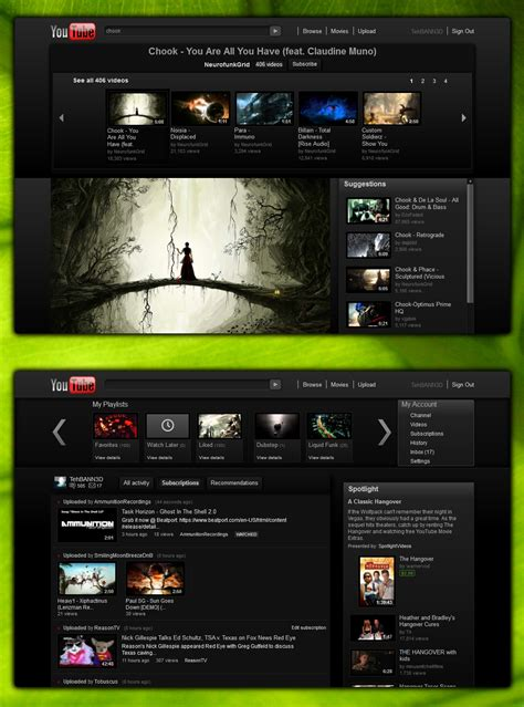 youtube layout bug youtube modern dark 3 0 themes and skins for youtube