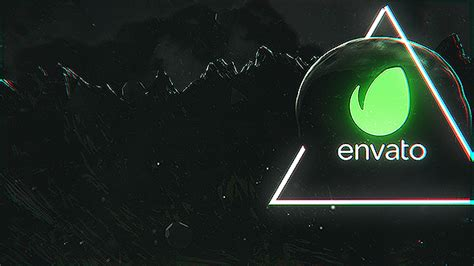 chaos dark logo ident abstract envato videohive