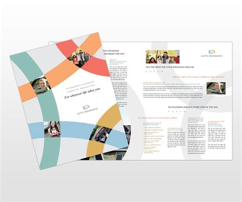 car auto insurance agency services brochure templates