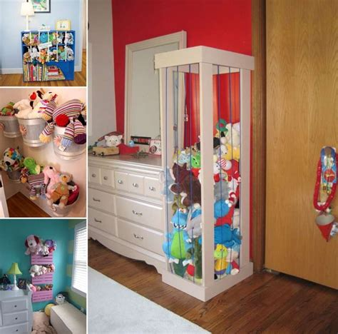 Toy Organizer Ideas | 15 cute stuffed toy storage ideas for your kids room