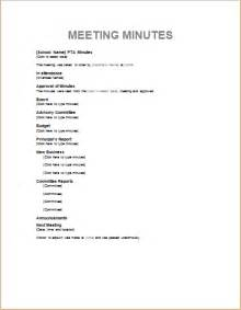 Template Of Meeting Minutes by Professional Meeting Minute Templates For Ms Word