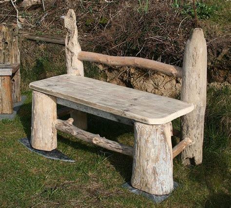 driftwood bench in the garden pinterest furniture