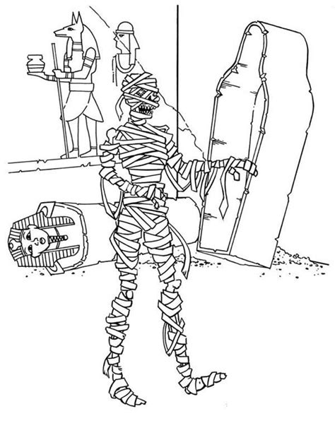 mummy template mummy coloring pages mummy coloring page bjl digis