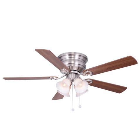 52 brushed nickel ceiling fan clarkston 52 in indoor brushed nickel ceiling fan with