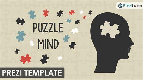 puzzle mind prezi template prezibase
