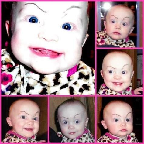 All About The Brows Baby 2 by 29 Babies With False Eye Brows Tashes This Is