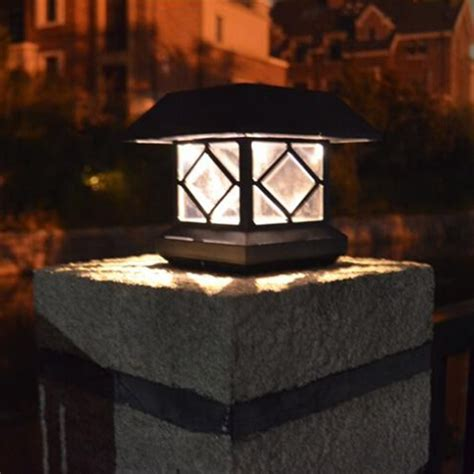 Solar Powered Outdoor L Post Lights Solar Power Post Cap Fence Light Led Outdoor Garden Landscape L Sale Banggood