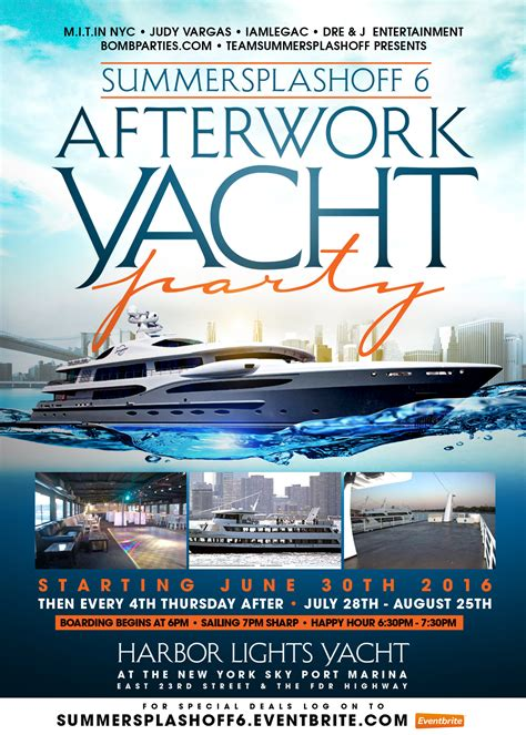 Kaos Yacht Club Black summer splashoff 6 after work yacht the harbor