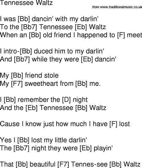waltz lyrics time song lyrics with guitar chords for tennessee waltz bb