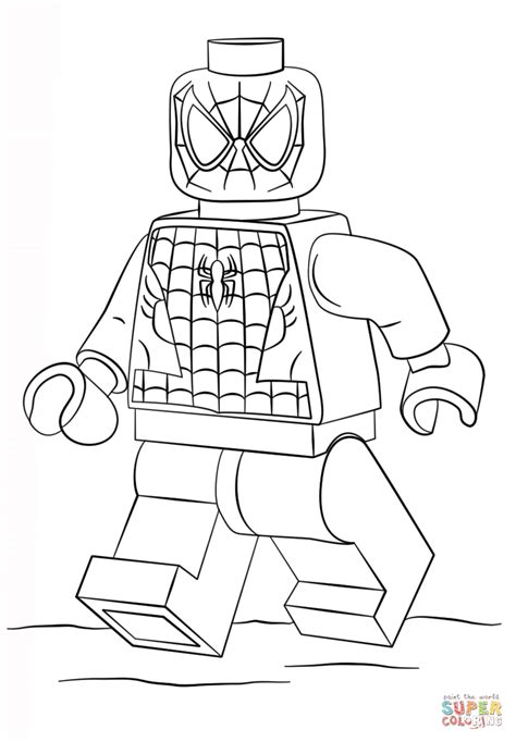 lego spiderman super coloring art club ideas