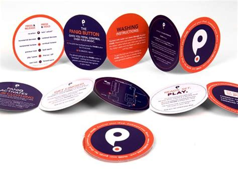 leaflet design creative round shaped brochures brochures phlets pinterest