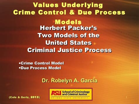 Crime Model And Due Process Model by Crime And Due Process In The United States