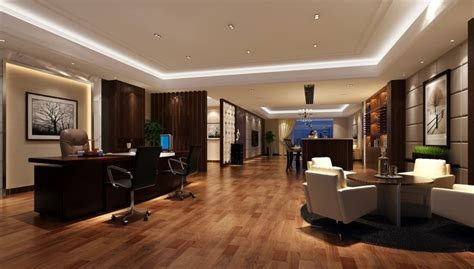 wood floor wall ceiling door interior design 3d 3d house president office floor ceiling interior design