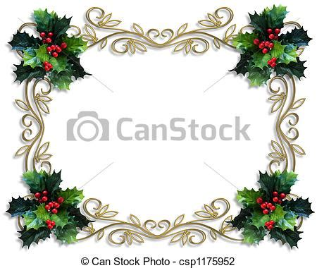 clip art of christmas holly border image and
