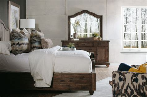 magnussen home umber panel bed mathis brothers