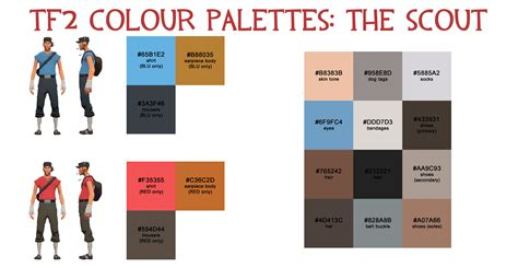 scout colors team fortress 2 palette the scout by haus42 on deviantart
