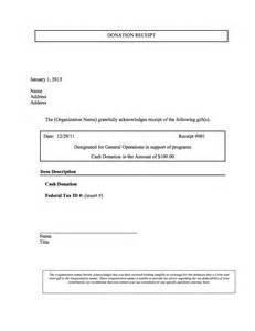 donation receipt yea
