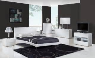 bristol contemporary glossy bedroom set