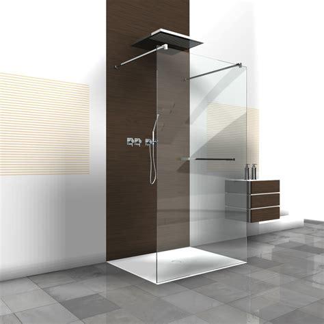 duschabtrennung feststehend rahmenlose duschwand walk in dusche als duschabtrennung