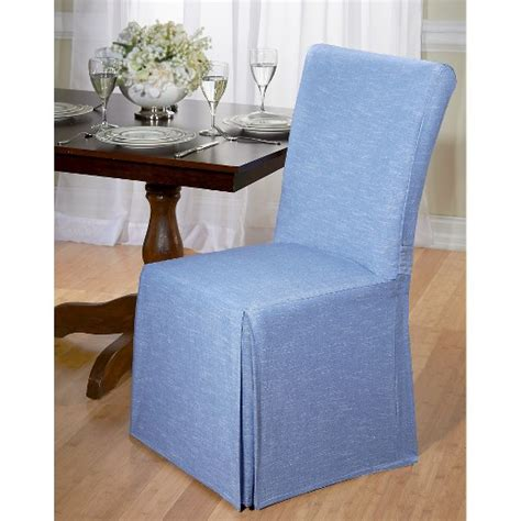 Dining Room Chair Covers Target by Blue Chambray Dining Room Chair Slipcover Target