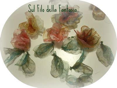 fiori di organza tutorial sul filo della fantasia fiori di organza leggeri
