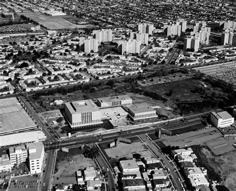 inter state studio backgrounds ca 1965 aerial view of the los angeles county museum