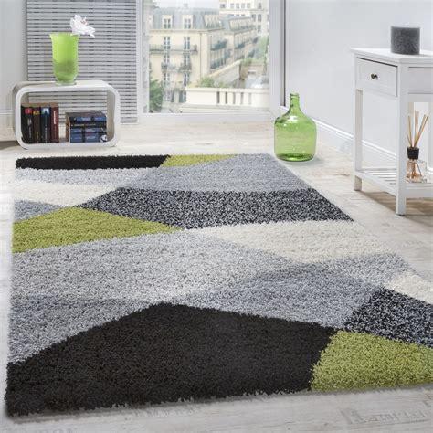 teppich grau gemustert shaggy geometrisch gemustert grau gr 252 n hochflor teppiche