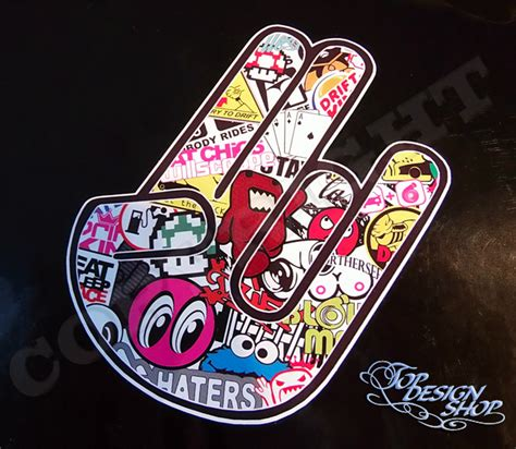 Tuning Aufkleber Hand by Jdm Hand Sticker Bomb Www Imgkid The Image Kid Has It