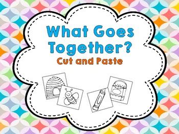Go Go Cutting And Pasting what goes together cut and paste by in ecse tpt