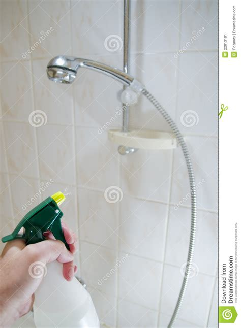 How To Clean Bathroom Shower Cleaning Tile Shower Walls Stock Image Image 22813101