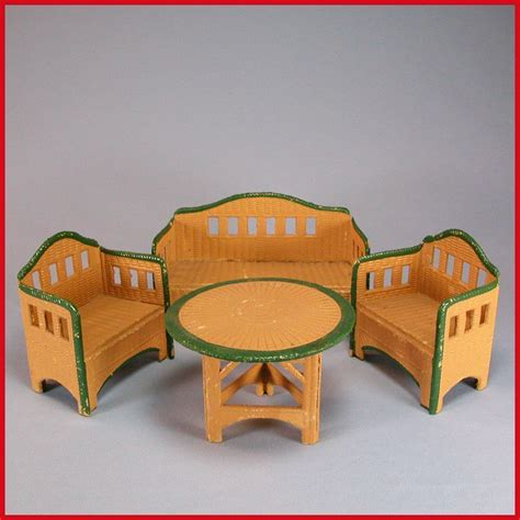 german garden furniture german dollhouse korbi wicker garden furniture 4 pc set