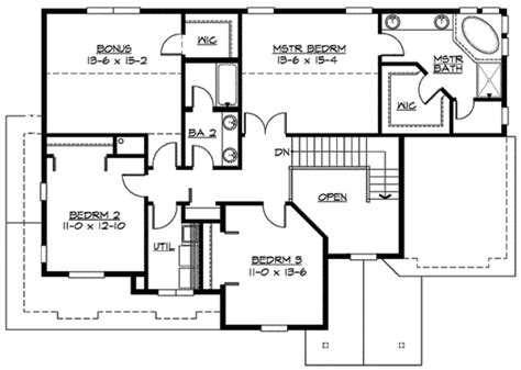 mission style in two versions 36346tx 2nd floor master suite butler walk in pantry cad garage options abound 23329jd 2nd floor master suite