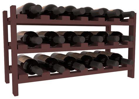 18 bottle stackable wine rack in pine walnut stain