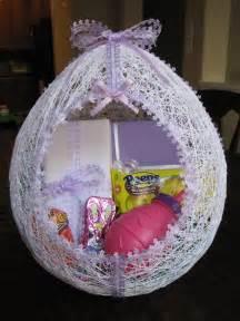 egg shaped easter basket hmh designs