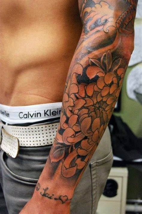 tattoos for men flowers 50 flower tattoos for a bloom of manly design ideas