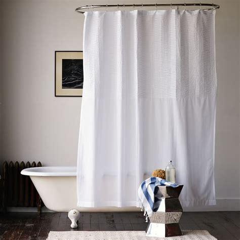west elm shower curtains pintuck shower curtain west elm