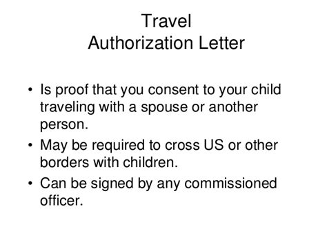 authorization letter for child to travel with one parent mcdv briefing september 2014