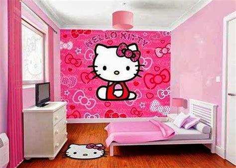 desain dinding kamar tidur hello kitty 23 desain wallpaper kamar hello kitty sederhana anak
