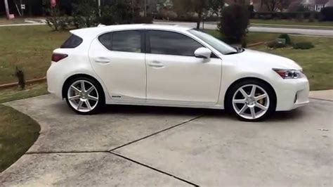 lexus ct200 custom lexus ct200h 2012 custom wheels 19 inch white