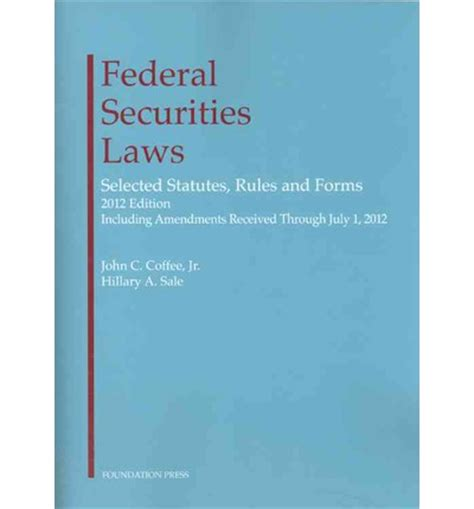 federal securities laws selected statutes and forms books federal securities laws selected statutes and