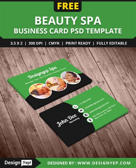salon business card template free free spa business card psd template designyep