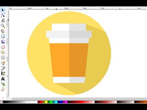 material design logo maker inkscape tutorial how to make coffee cup material design