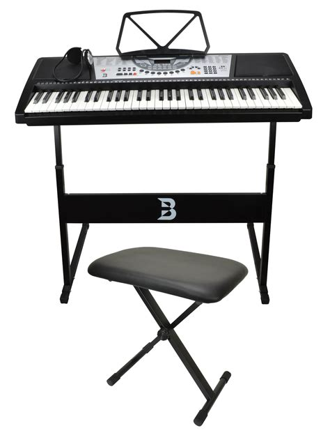 keyboard stand and bench set electronic keyboard set including bench stand and