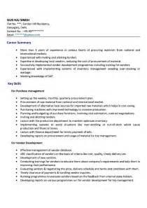 Purchasing Executive Sle Resume by Doc 525679 Procurement Resume Exles Bizdoska