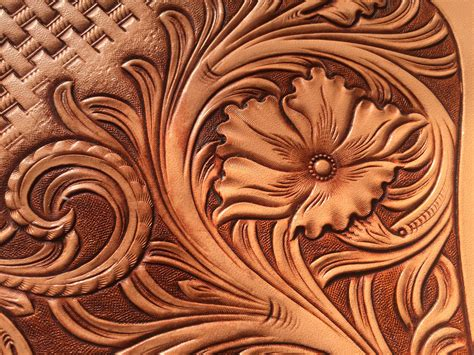 Carving Leather leather carving my works leather carving