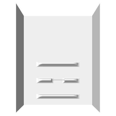 bathtub wall kit lyons empire tall sectional bathtub wall kit at menards 174