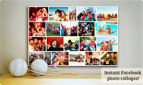 Instantly Make Collages From Facebook Photos Postermywall Poster Collage Template