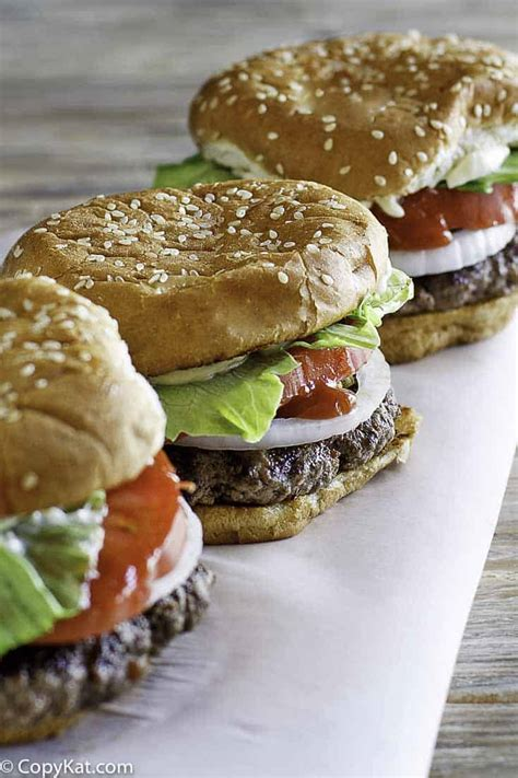 burger king whopper copykat recipes