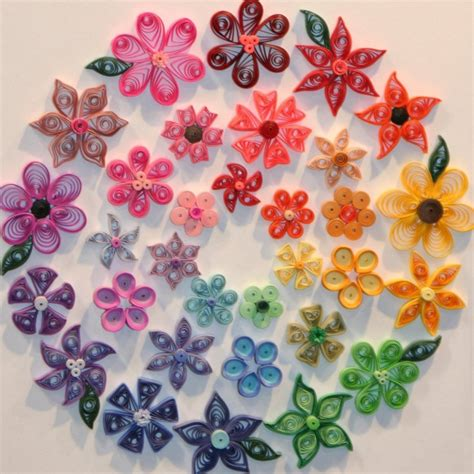 Beautiful Paper Flowers - beautiful colorful flower paper photo picture image